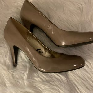 Nude Patent Leather Heels by Steve Madden